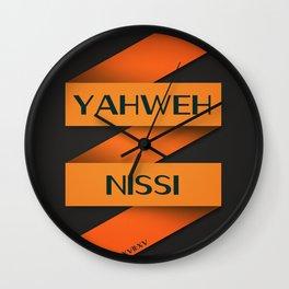 YAHWEH NISSI  Wall Clock