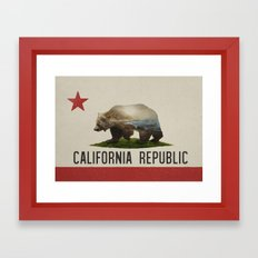 California Grizzly Bear Flag Framed Art Print