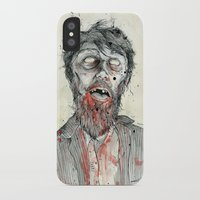 zombie iPhone & iPod Cases featuring Zombie! by Chris Gauvain