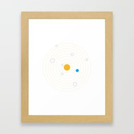 Helioeccentric Framed Art Print