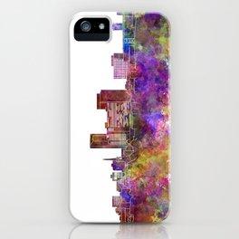 Lexington skyline in watercolor background iPhone Case