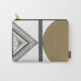 Geometric Shapes with Gold, Copper and Silver Carry-All Pouch