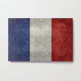 Flag of France, Bright retro style Metal Print