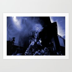 Blue Zombie Art Print