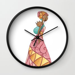 African beauty pink. Wall Clock