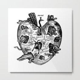 THE UNREGENERATE HEART Metal Print