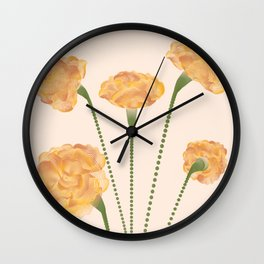 Line Carnations 1c Wall Clock