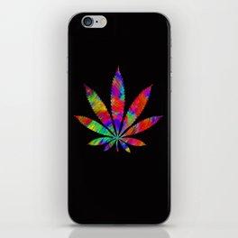 Rainbow Cannabis Leaf iPhone Skin