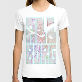 Aalborg City Map of Denmark - Colorful T-shirt