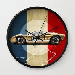 Le Mans Vintage GT40 Wall Clock