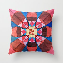 Pink and Blue Throw Pillow