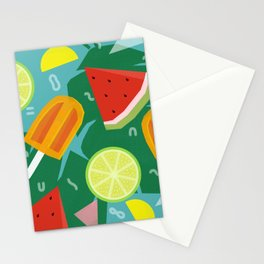 Watermelon, Lemon and Ice Lolly Stationery Cards
