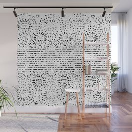 Lace Stamp Wall Mural