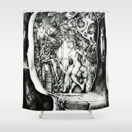 Concentric Sub-Levels Of Reality Shower Curtain
