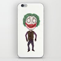 tim burton iPhone & iPod Skins featuring WHY SO SERIOUS? HEATH JOKER IN TIM BURTON STYLE by The Butler
