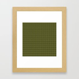 ZigZag/Green Framed Art Print