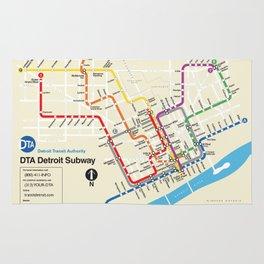 Detroit Metro Subway Map Rug