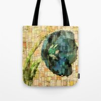 tulip Tote Bags featuring Tulip by Aloke Design