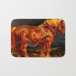 horses paintings oil Bath Mat