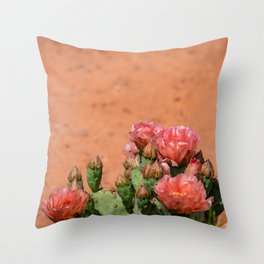 Cacti in Bloom - 5 Throw Pillow