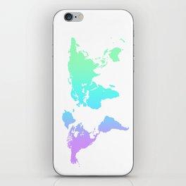 Ocean Gradient World Map iPhone Skin