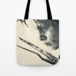 Edward Scissorhands ~ Johnny Depp Traditional Portrait Print Tote Bag