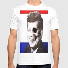 JFK SKULL PORTRAIT White Mens Fitted Tee SMALL