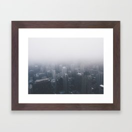 Snow City Framed Art Print