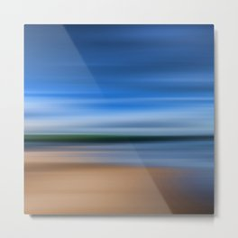 Beach Blur Painted Effect Metal Print