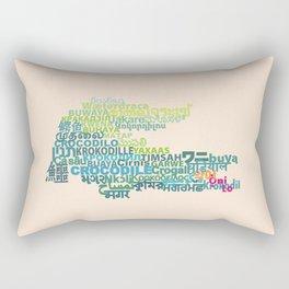 Crocodile in Different Languages Rectangular Pillow