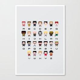 Rock Music Alphabet Canvas Print