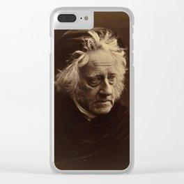 Sir John Herschel by Julia Margaret Cameron Clear iPhone Case