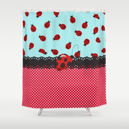 Charming Ladybugs Shower Curtain