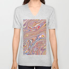 *SWIRL_COMPOSITION_4 Unisex V-Neck