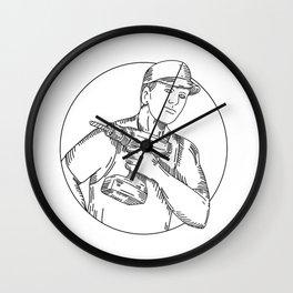 Handyman Cordless Drill Mono Line Wall Clock