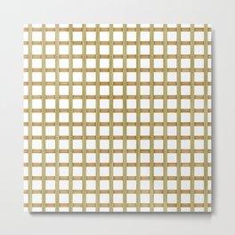 Light Wood Lattice Metal Print