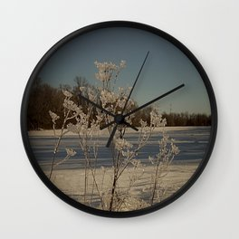 Winter Sparkle Wall Clock