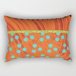 dot bag (orange) Rectangular Pillow