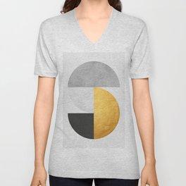 Golden Geometric Art VII Unisex V-Neck