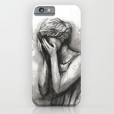 Weeping Angel Watercolor Doctor Who Art iPhone 6s Slim Case