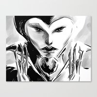 evil queen Canvas Prints featuring Evil Queen by Keith Gutierrez