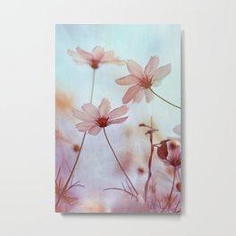 Cosmos Flowers Dancing in the Wind Metal Print
