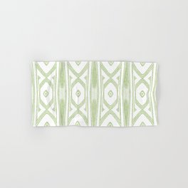 Velvety Tribal Shield in Lime Green Hand & Bath Towel