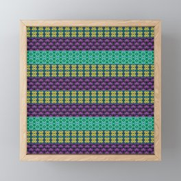 Mardi Gras Colors Framed Mini Art Print