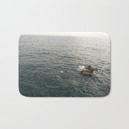 Newport Beach Dolphin Pair Bath Mat
