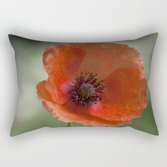 Poppy at backlight 1 Rectangular Pillow
