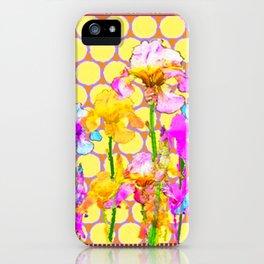 FUCHSIA-YELLOW IRIS GARDEN DESIGNS iPhone Case