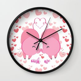 Oink me ! Wall Clock