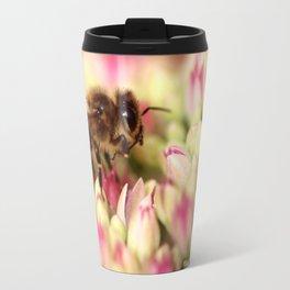 Bee On Flowers. Travel Mug