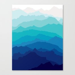 Blue Mist Mountains Canvas Print
